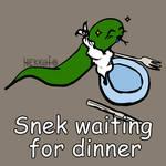 Day 361: Snek waiting for dinner [365 days of snek