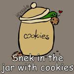 Day 362: Snek in the jar with cookies [365 sneks]