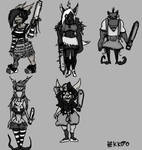 Cute orc girl  - concept arts