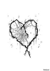 Barbed wire heart - poster