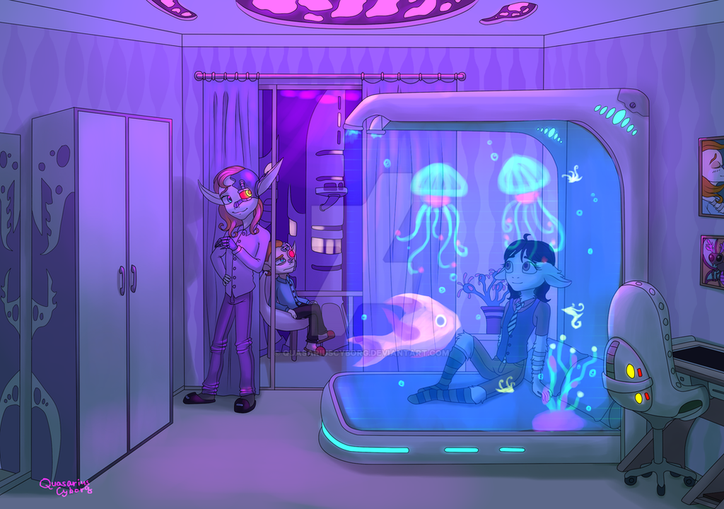 Futuristic bedroom by QuasariusCyborg on DeviantArt