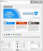 PSD TEMPLATE v1.0 by brandmystyle