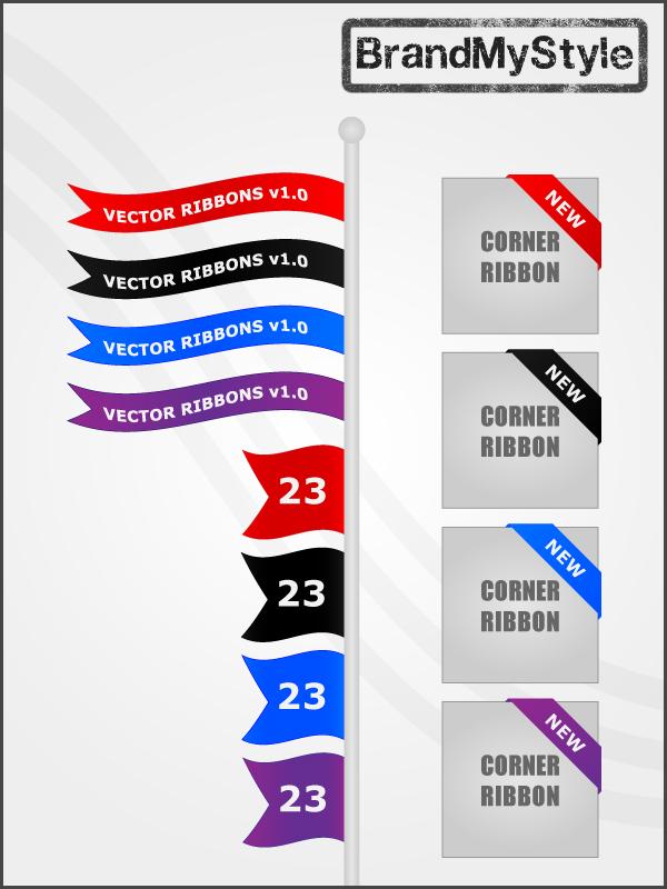 VECTOR RIBBONS v1.0 by brandmystyle