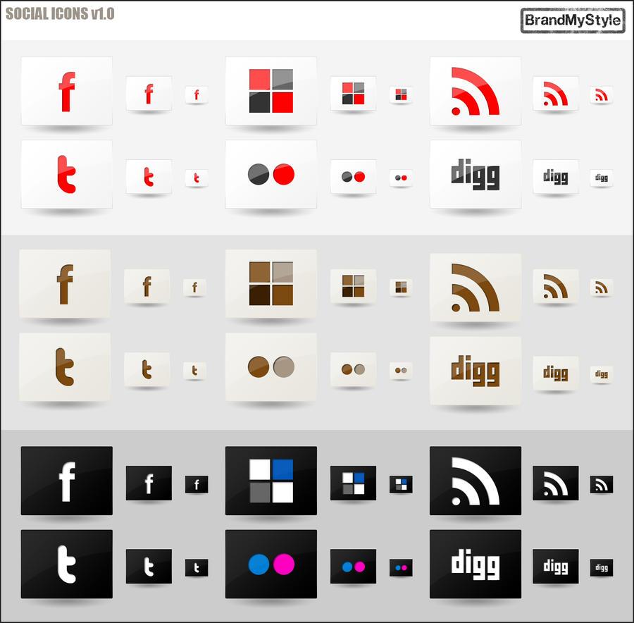 SOCIAL ICONS v1.0 by brandmystyle