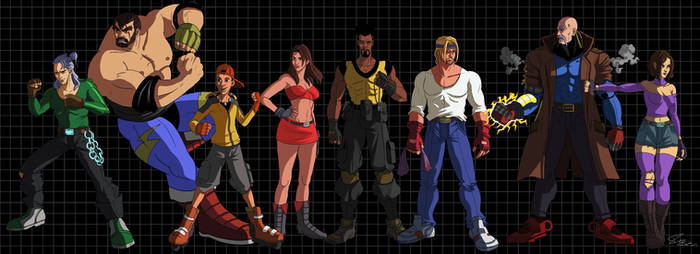 Streets of Rage characters group