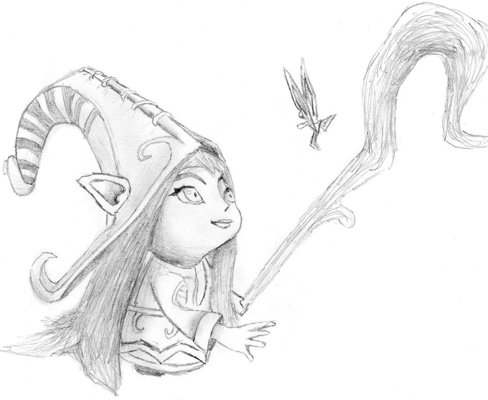 League of Legends Lulu Drawing by MatthewTurpin on DeviantArt