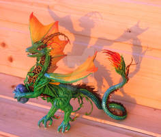Spring dragon figurine with egg
