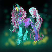 Zombie-doll pony girl adopt by Youngdemon