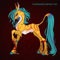 Pony predatory unicorn (adopt) by Youngdemon