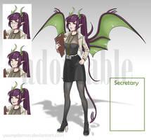 Secretary Demon Girl (adopt) by Youngdemon