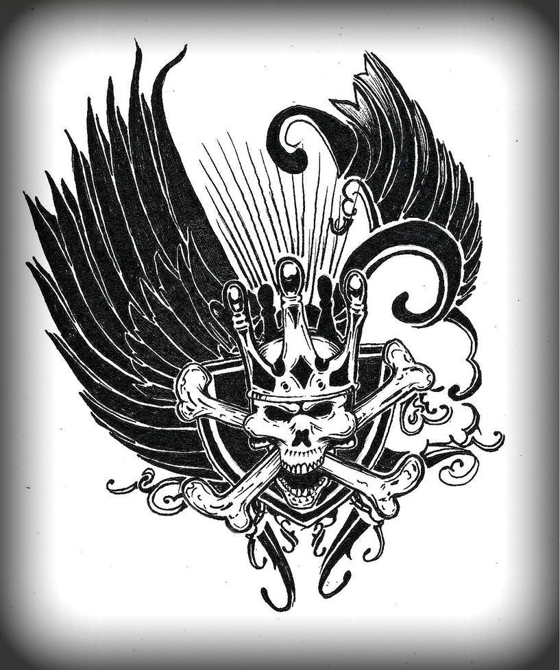 Skull Tattoo Design I by SM1902 on DeviantArt