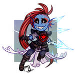 Underdecay- Undyne the 'undying' Chibi