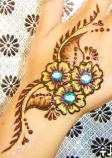 Henna art blingbling