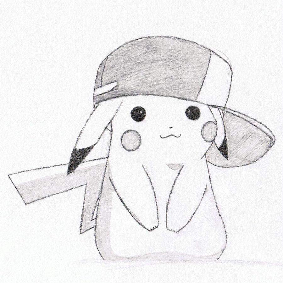 Pokemon Ausmalbilder Pikachu : Pikachu_with_ash__s_hat_by_demifitzherbert D3yt6jy Jpg