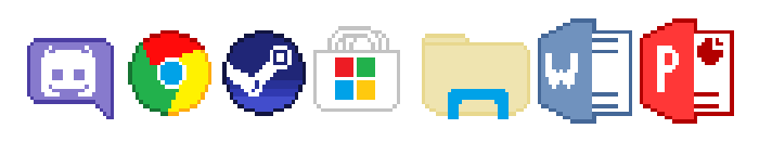 Windows 10 Desktop Icons Pixel Art By Miketoonz On Deviantart