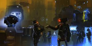 Random cyberpunk sketch
