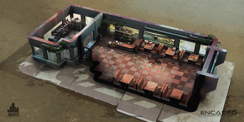 Encased - Gas Station Interior - Concept-Art