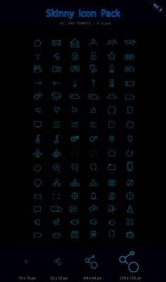 Skinny UI Icon set