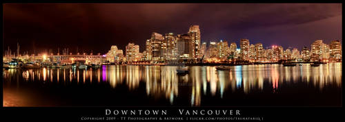 Downtown Vancouver night shot