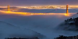 Foggy Golden Gate Bridge by tt83x