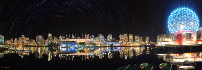 Star Trails in Vancouver by tt83x