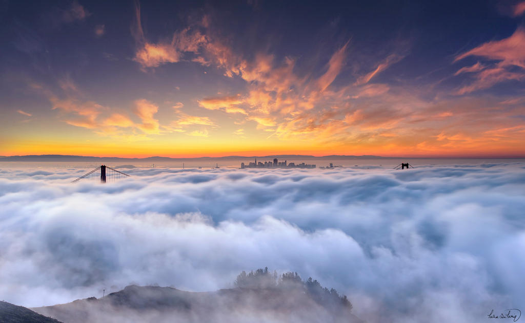 San Francisco Foggy Sunrise by tt83x