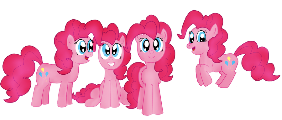 MLP Pinkie Pies by Rad-Girl