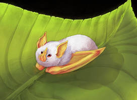 Honduran White Bat by Artisticaviary