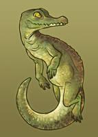 little crocodile by Artisticaviary