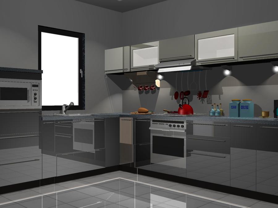 kuchnia czarno ecru by PrzemyslawP on deviantART -> Kuchnia Czarno Ecru