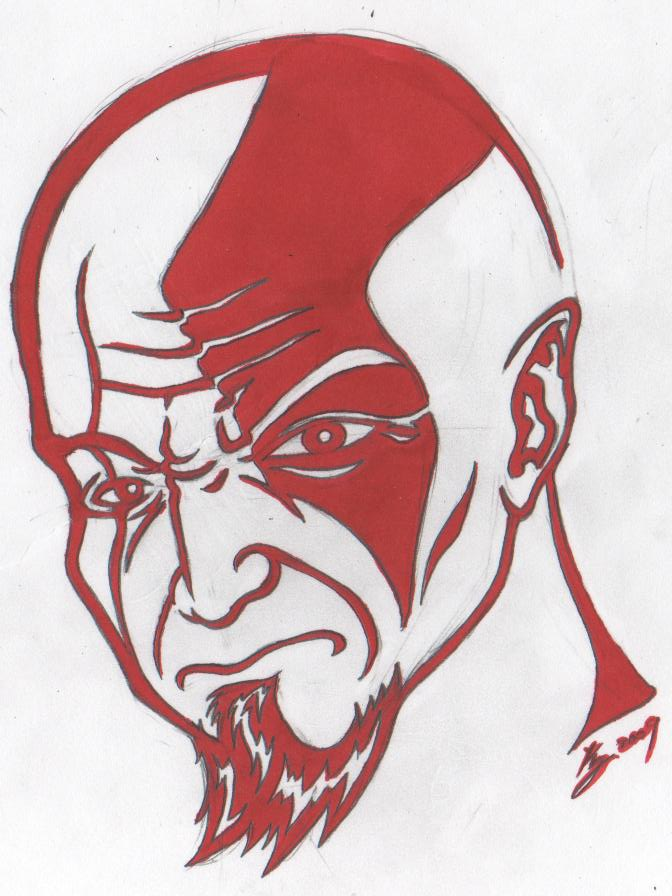 The gallery for god of war kratos drawing for Kratos tattoo design