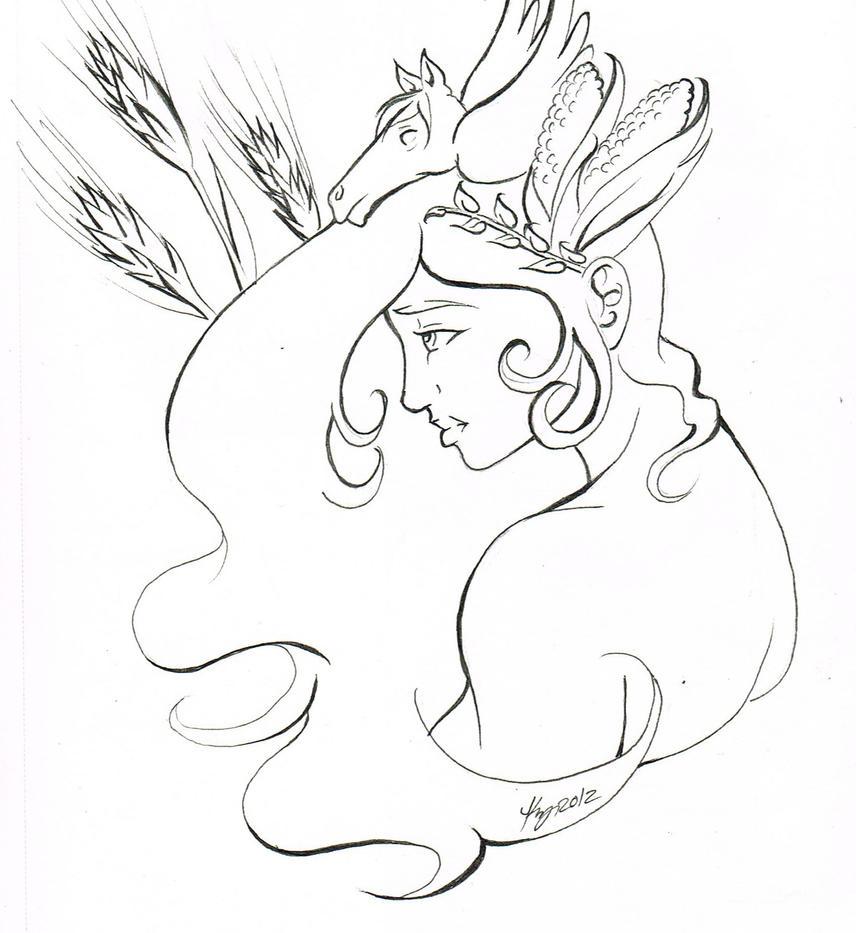 demeter greek goddess drawing - photo #25
