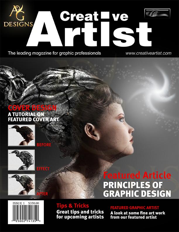 creative artist magazine cover by andrewgentles on deviantart. Black Bedroom Furniture Sets. Home Design Ideas