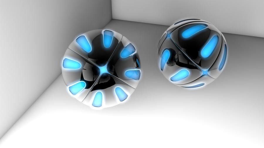 armored balls by playdoughart14