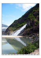 Alaska - Waterfall Reflection by princepoo