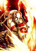 god of war by zecarlos