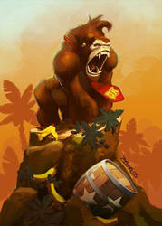 Tibute Nintendo - Donkey Kong Fanart -01 by zecarlos