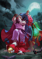 Street Fighter  X Darkstalkers  - Dan X Demitri by zecarlos