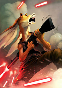 star wars 40 years collab -  Jar Jar Binks