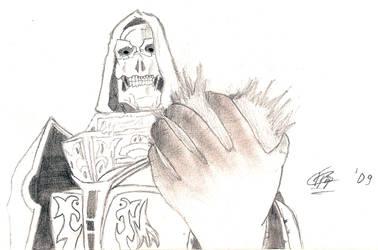 Skeleton Mage Spell by thunderrr