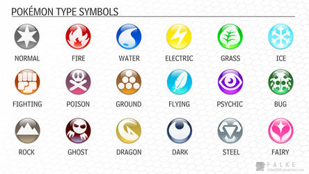 Pokemon Type Symbols (Updated) by falke2009