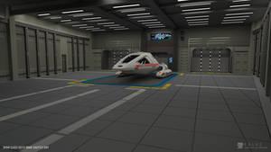 Nova Class Refit - Shuttle Bay (Render 1) by falke2009