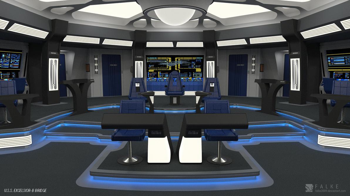 U S S Excelsior B Bridge Render 1 679236734 on Spaceship Deck Plans
