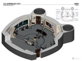 USS Enterprise-B Refit - Bridge by falke2009
