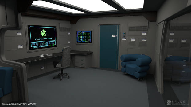 U.S.S. Endurance - Captain's Quarters (Render 2)