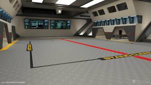 U.S.S. Enterprise-B Refit - Shuttle Bay (Render 1)