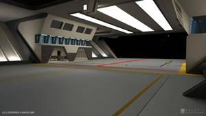 U.S.S. Enterprise-B Refit - Shuttle Bay (Render 2)