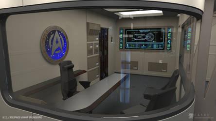 U.S.S. Enterprise-B Refit - Engineering (Render 3) by falke2009