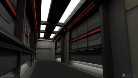 U.S.S. Nova - Corridor (Render 2) Red Alert by falke2009