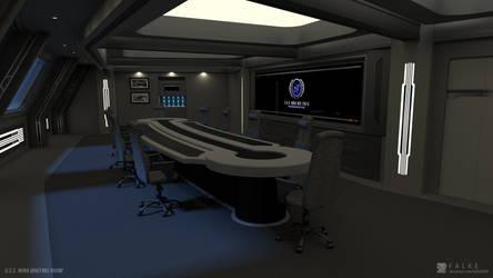 U.S.S. Nova - Briefing Room (Render 1) by falke2009
